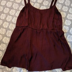 Cranberry Colored Tank Blouse